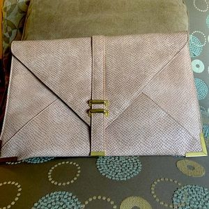 ASOS Tan and Gold Large Envelope Clutch